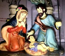 Avon Holiday Treasures Porcelain Figurines Holy Family Nativity 2002
