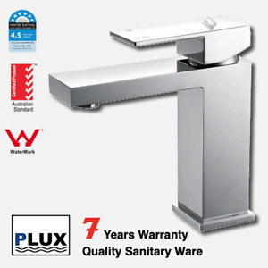PLUX High Quality Bathroom Squared Chrome Basin Mixer -Tap Mixer-Faucet