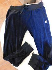 FILA Terciopelo Negro Pantalón de Chándal XL Trac1-15