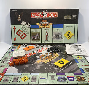 Harley Davidson Live to Ride Collectors Edition 2000 Monopoly Game