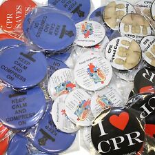 Pack of 10 CPR Training Related Buttons - Novelty Gifts for Instructors/Students