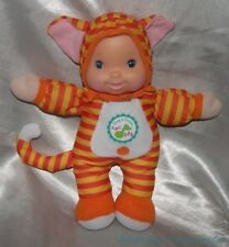 "Rare GOLDBERGER Plush 12"" Orange Striped SING & LEARN Kitty Cat BABY DOLL Works!"
