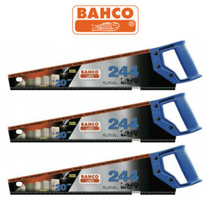 """BAHCO 20""""/500mm 244 Hardpoint 7TPI Timber Wood Cutting Hand Saw - 3x 5x 10 PACK"""