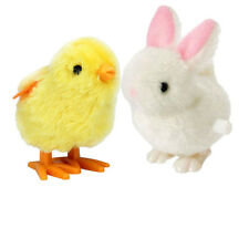 New Infant Child Boys & Girls Toys Hopping Wind Up Easter Chick and Bunny