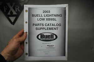 Buell Lightening Low parts catalog NEW 2003 99671-03Y supplement XB9SL EP21971