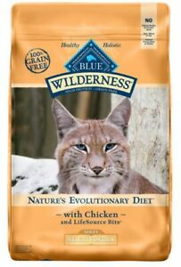 Blue Wilderness High Protein Grain Free Wt Control Chicken Adult Cat Food 11lbs.