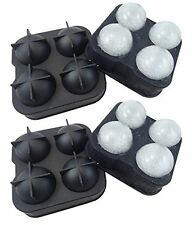 Zicome Silicone Ice Ball Mold Tray Maker Set of 2 Large 8 X 4 5cm Ice Balls New