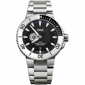 Oris 01 743 7734 4184-Set MB Men's Aquis Black Automatic Watch