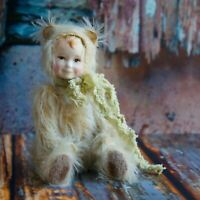 Collectible Artist OOAK Handmade Teddy Doll Sunny Fluff