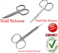 Sharp Curved Edge Cuticle Toe Scissors - Arrow Point, Nail File And Nail Scissor
