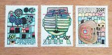 3 Briefmarken Neu MNH Senegal Friedensreich Hundertwasser 1979 Mi 705/7 CH02