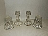 4-Piece Set, Glass Candle Holders, Lady Love Votive Cups - Home Interiors, HOMCO