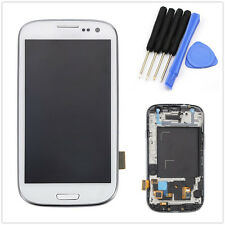 LCD Touch Screen Glass Digitizer Frame For Samsung Galaxy S3 Neo GT-I9300i White