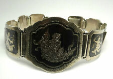 Vintage Siam Sita 925 Sterling Silver Link Bracelet Size- 8