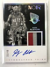 2019-20 Rafer Alston Autographed Prime 23/40 Panini Noir Auto 3 Color Patch Nets