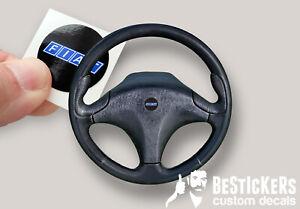 Adesivo per logo tondo volante FIAT coupè mk1 SENZA airbag  - restauro clacson