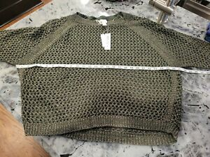 Chico's Women's Evergreen Open Stitch, Jessica Pullover Sweater Size 4 NWT $99