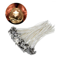 """30pcs 4"""" Pre Waxed Candle Wicks With Sustainers For Making Tea Light Candles Set"""