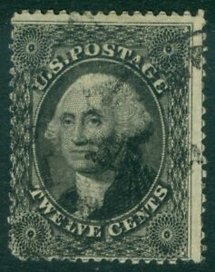 EDW1949SELL : USA 1857 Scott #36 Used. Intense color. PSAG Certificate. Cat $350