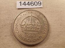 1937 Australia One Crown - Very Nice Collector Grade Album Coin - # 144609 Raw
