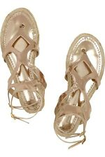 Jimmy Choo Gladiator Sandals Gold Metalic For Size 38