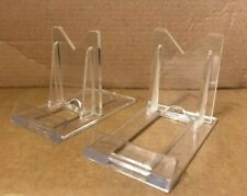 ACRYLIC DISPLAY STAND EASEL PLATE PICTURE HOLDER PLASTIC ADJUSTABLE TWIST FIX