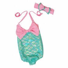 Kids Girls Mermaid Bikini Swimwear Swimsuit Bathing Swimming Costume One-Piece