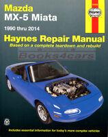 MIATA MAZDA MX5 SHOP MANUAL SERVICE REPAIR MX-5 BOOK HAYNES CHILTON WORKSHOP