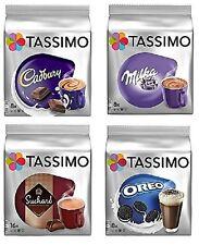 Tassimo Hot Chocolate Mega 4 Pack - Cadbury Milka Suchard Oreo 48 T Discs Pods