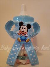 "Mickey Mouse Centerpiece Bottle Large 12"" Baby Shower Piggy Bank Boy Decorations"
