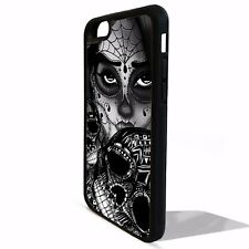 Sugar skull girl mexican tattoo skeleton graphic cover case for Iphone 8 8 plus