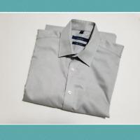 Grafton Men's Gray Dress Shirt | Size 15.5 | 2 Ply | Non Iron