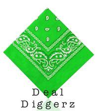 Paisley Bandana Bandana Headwear Fascia per capelli/Collo Sciarpa Polso Avvolgere bandlime Verde