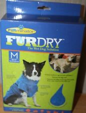 "Furminator FurDry The Wet Dog Solution Wrap Medium  up to 16""  Blue"