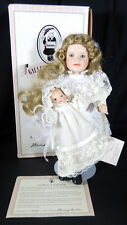 """WENDY LAWTON PORCELAIN DOLL DOLLY SUNDAY BEST COLLECTIONW/ BYE-LO BABY 14"""""""