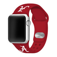 Alabama Crimson Tide Silicone Sport Band Compatible With The Apple Watch