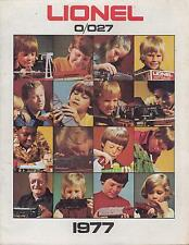 LIONEL O27 & O GAUGE MODEL RAILWAYS ( 1977 ) PRODUCT RANGE CATALOGUE