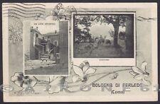 LECCO PERLEDO 07 Frazione BOLOGNA - VEDUTINE Cartolina viaggiata 1924