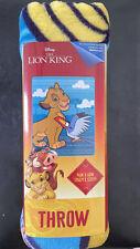 "New The Lion King Plush Throw Blanket 46"" X 60"" Simba & Zazu Super Soft -offers"