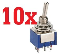 10x  6-Pin DPDT ON-ON Toggle Switch 6A 125VAC 10pcs   useless box  switch A