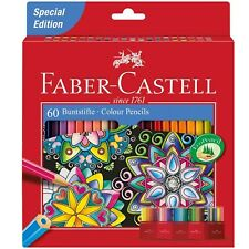 Faber-Castell Colouring Pencils - Assorted Colours - Pack of 60