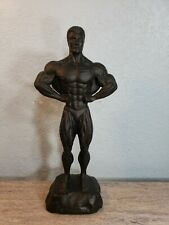 Vintage Male Fitness Bodybuilder Figure Statue Ceramics Sculpure ConceptLats