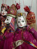 Indian Handmade Vintage Rajasthani Kathputli Marionette Puppet Wholesale 5pc Lot