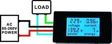 AC 80-260V 20A Digital Multifunction Meter Voltage Amperage Power Energy