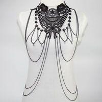 Body Chain Jewelry Harness Women Bikini Us Chest Necklace Rhinestone Crystal Bra