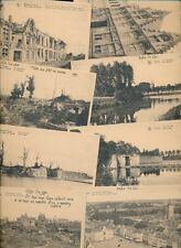 Belgium YPRES WW1 x16 PPCs showing views from before and after War