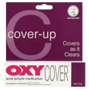 25g OXY Cover-up Benzoyl Peroxide For Stubborn Acne Pimple Medication