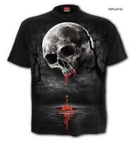 Spiral Direct Unisex T Shirt Vampire Goth DEATH MOON Blood Drip Skull All Sizes