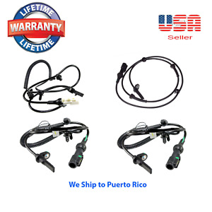 Set of 4 ABS Wheel Speed Sensor Front Rear Right & Left fit:AWD Freestyle,Taurus