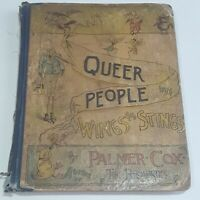 UNIQUE VTG Book c1888 Palmer Cox Queer People With Wings And Stings